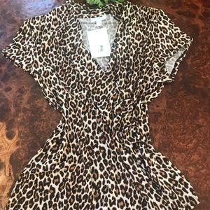 Charter Club women's blouse L cheetah
